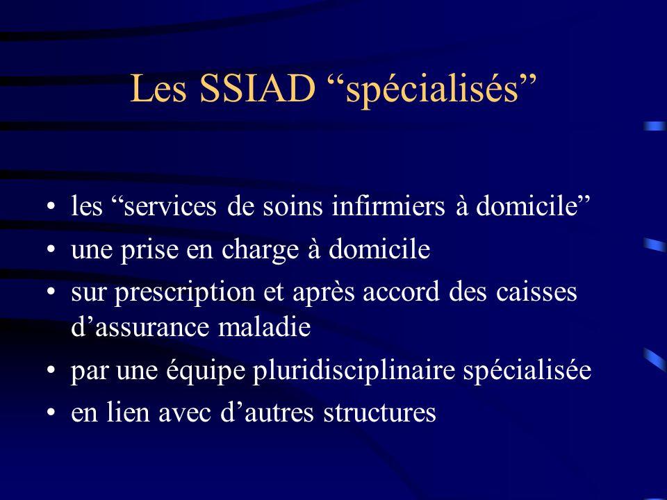 Les SSIAD spécialisés les services de soins infirmiers à domicile une prise en charge à domicile sur prescription et après accord des caisses dassuran