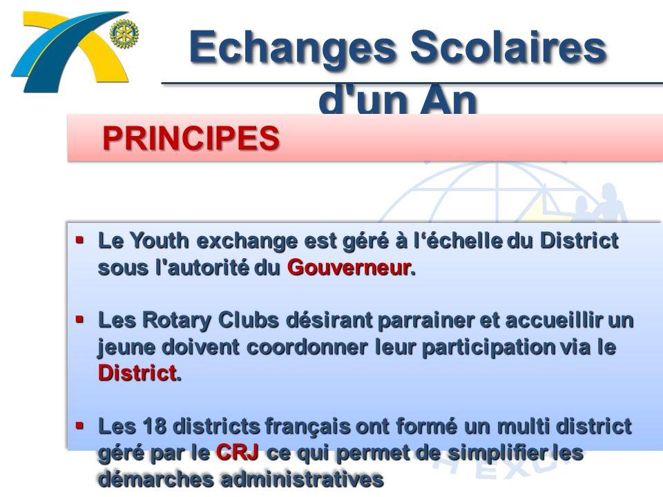 Echanges Scolaires d un An Le Youth exchange est géré à léchelle du District sous l autorité du Gouverneur.