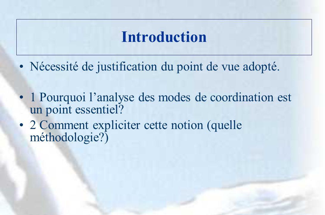 1.La nécessité de la coordination LEI : une vision dingénieur (« one best way.