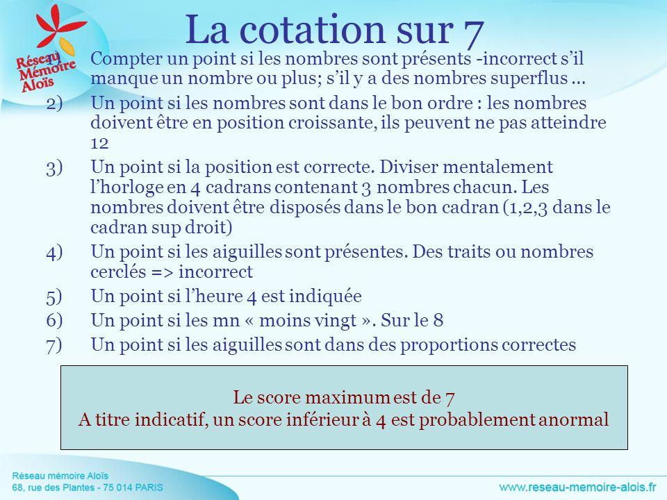 1)Compter un point si les nombres sont présents -incorrect sil manque un nombre ou plus; sil y a des nombres superflus … 2)Un point si les nombres son