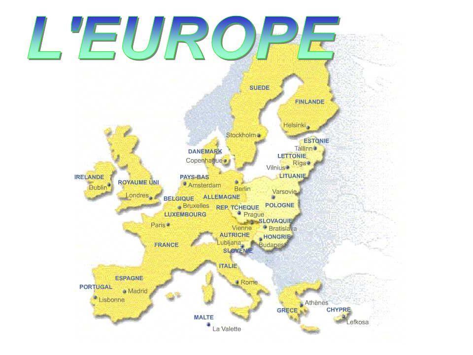 Situation actuelle 15 états membres = 378 millions dhabitants