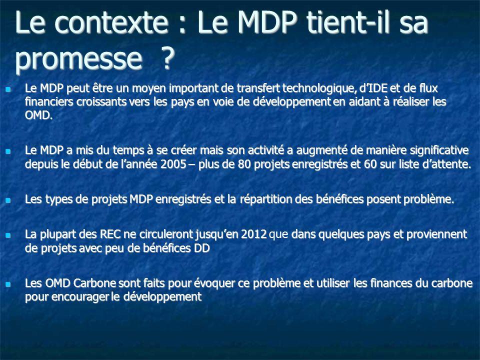 Le contexte : Le MDP tient-il sa promesse .