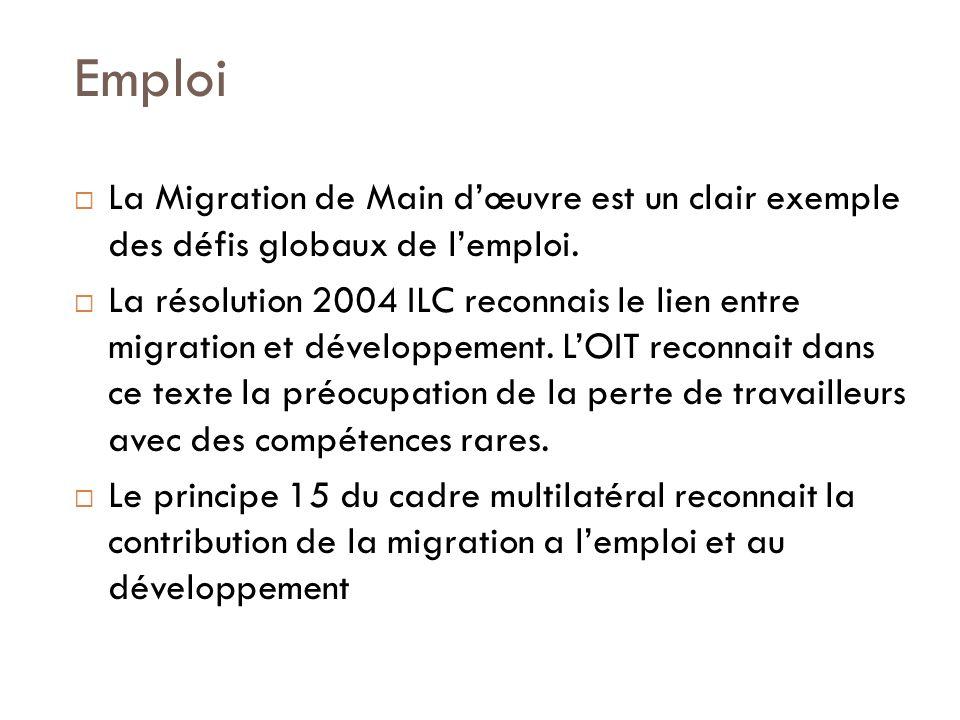 Emploi La Migration de Main dœuvre est un clair exemple des défis globaux de lemploi.