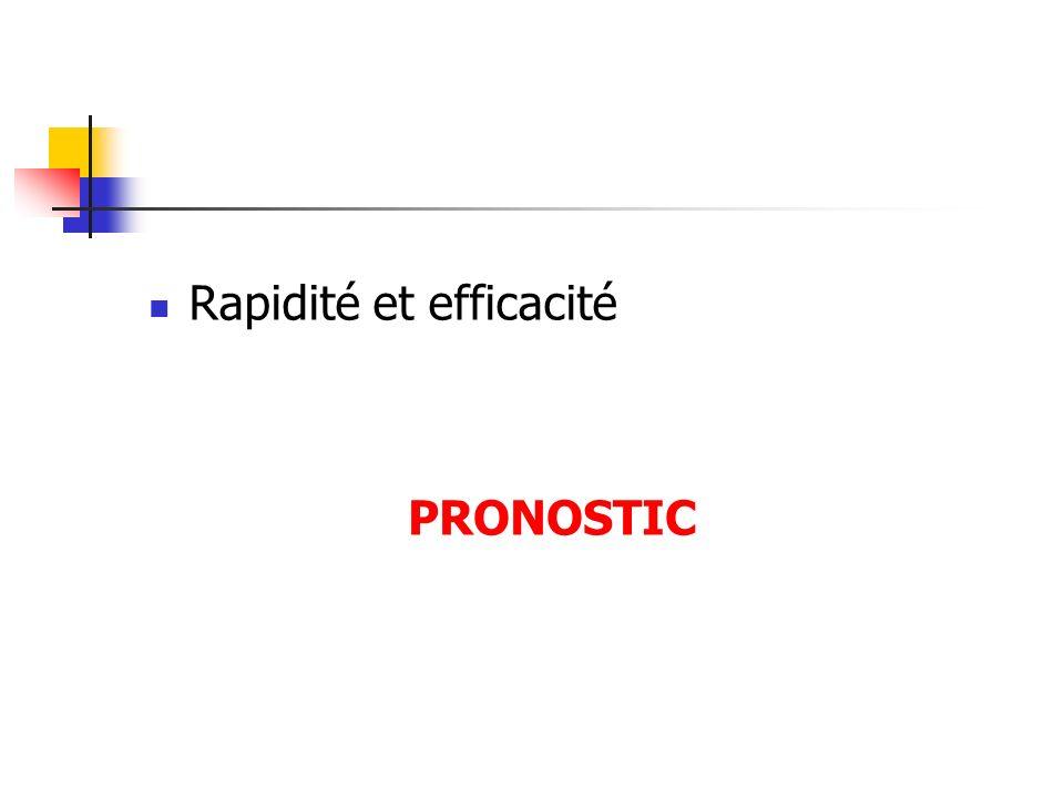 Rapidité et efficacité PRONOSTIC