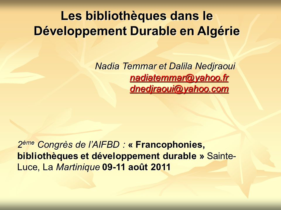 LA BIBLIOTHEQUE NATIONALE DALGERIE Ancien site de la BN (devenu annexe) Nouveau site