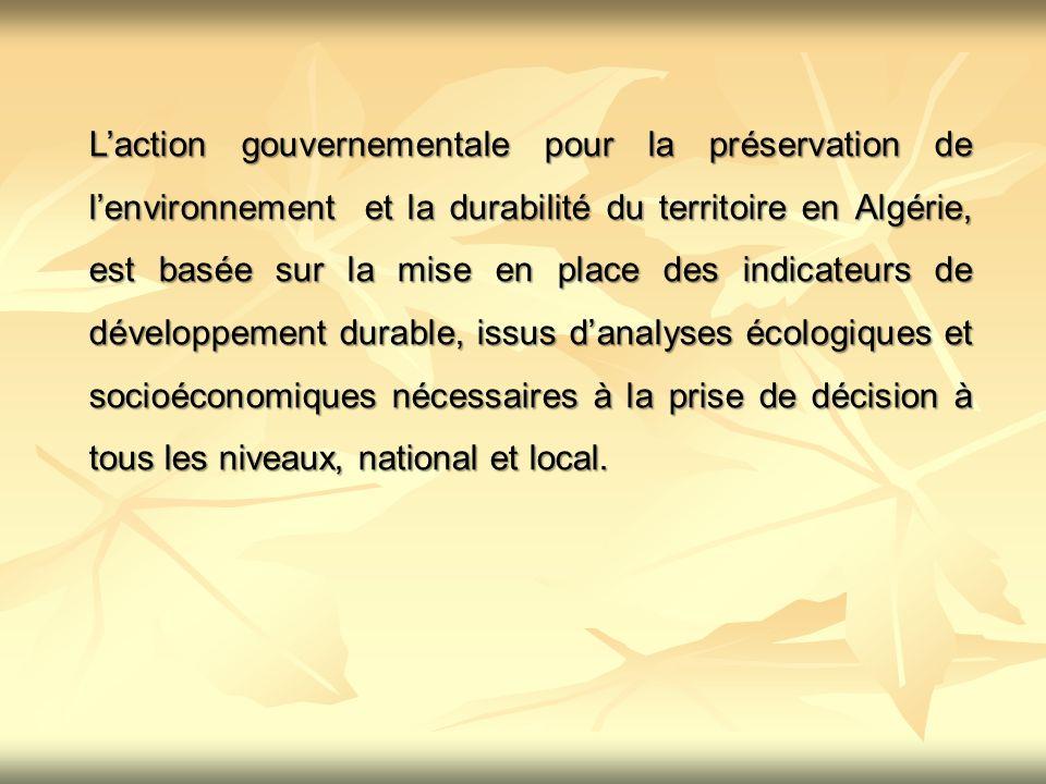 Une stratégie nationale de développement durable, que coordonne le Ministère de lAménagement du Territoire et de lEnvironnement (MATE), a été définie pour asseoir une bonne gouvernance et donner un contenu concret au principe du développement durable dans le pays.