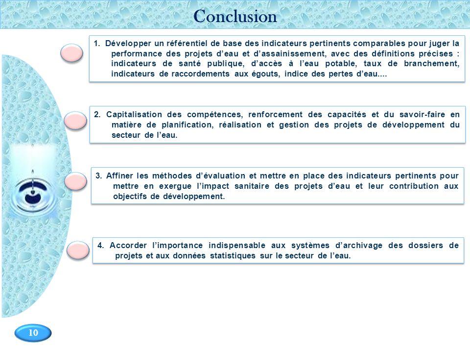 Page 10 10 2. Capitalisation des compétences, renforcement des capacités et du savoir-faire en matière de planification, réalisation et gestion des pr