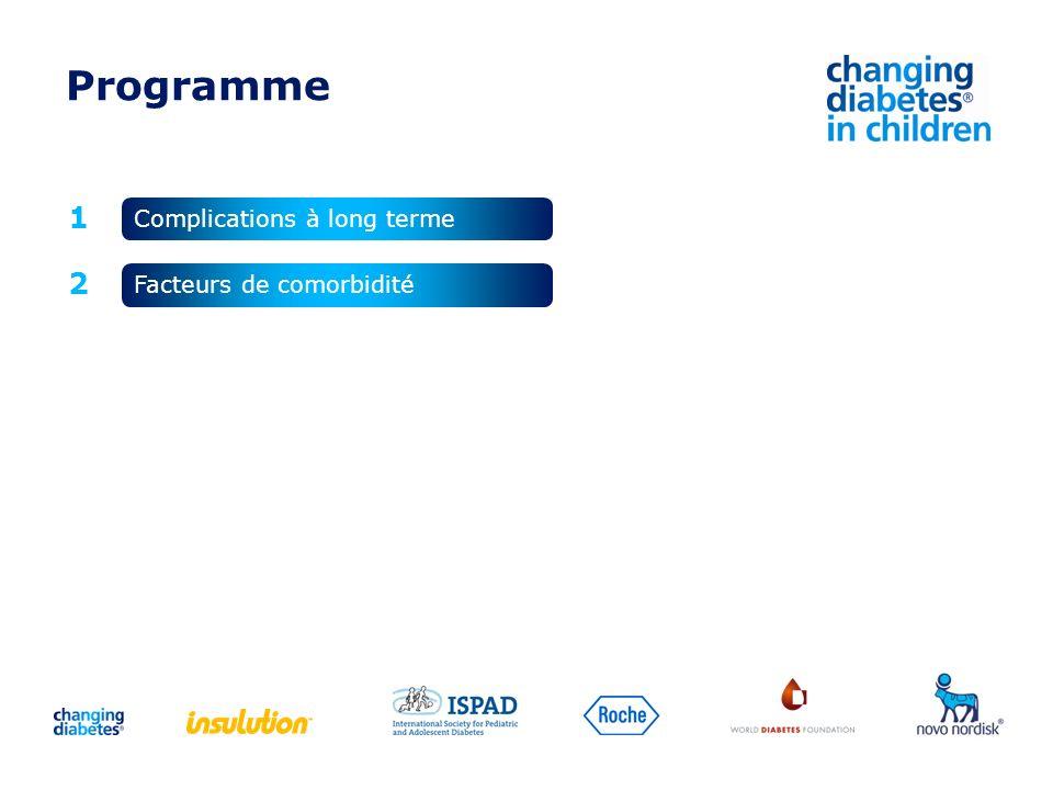 Programme 1 2 Complications à long terme Facteurs de comorbidité