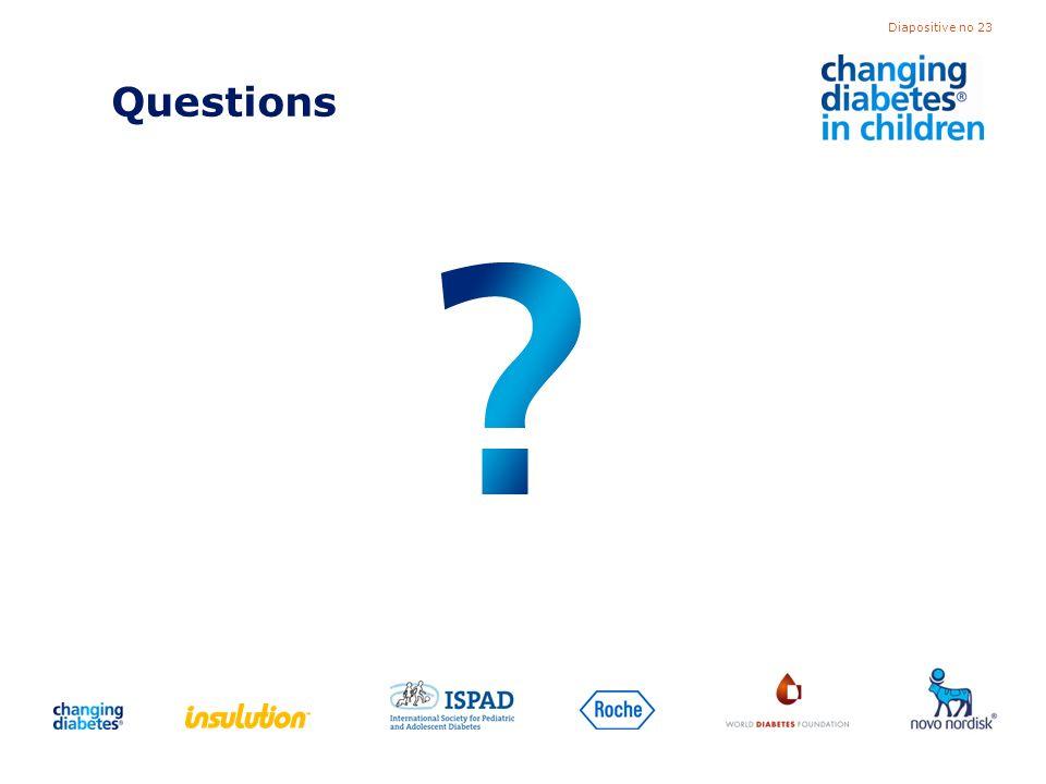 Diapositive no 23 Questions