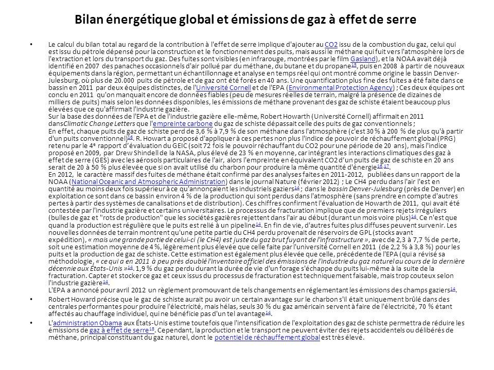 Bilan énergétique global et émissions de gaz à effet de serre Le calcul du bilan total au regard de la contribution à l'effet de serre implique d'ajou