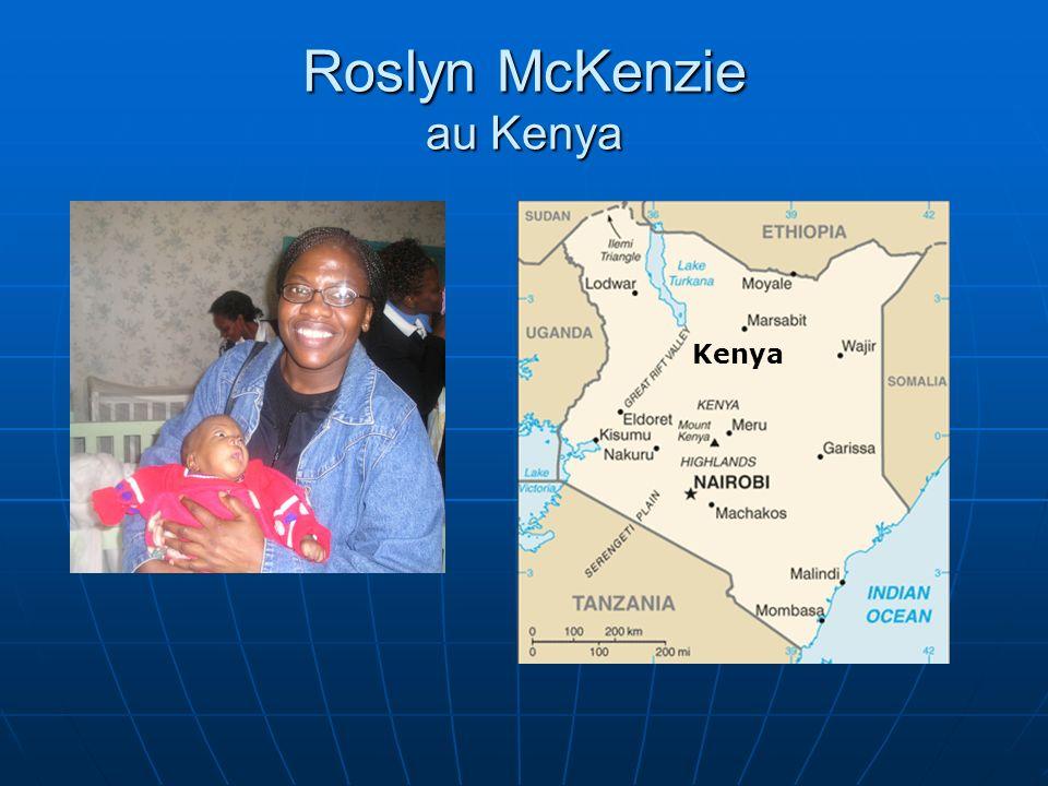 Roslyn McKenzie au Kenya Kenya
