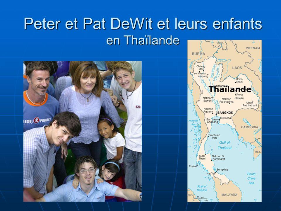 Les DeWit sont activement engagés à développer les ministères envers les jeunes, le leadership, lentraînement, la formation de disciples ainsi que lévangélisation parmi les Thaïlandais.