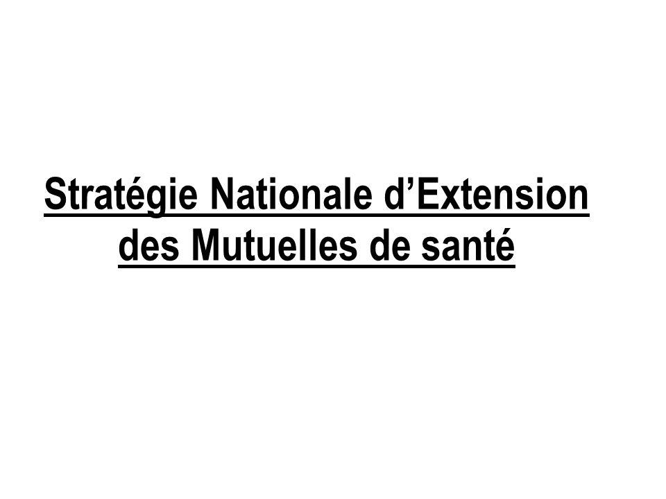 Stratégie Nationale dExtension des Mutuelles de santé