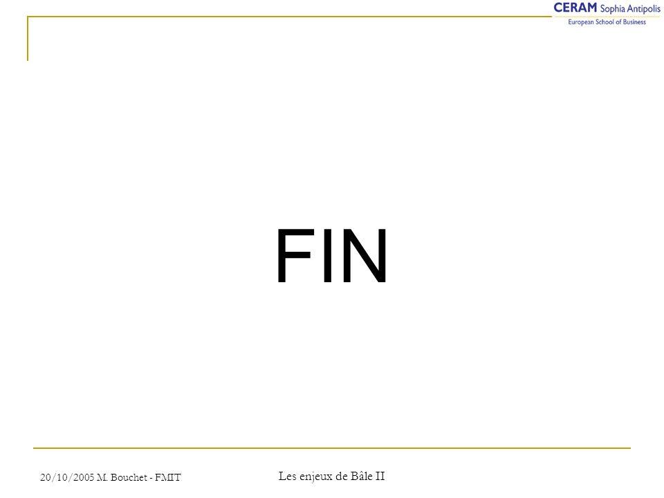 20/10/2005 M. Bouchet - FMIT Les enjeux de Bâle II FIN