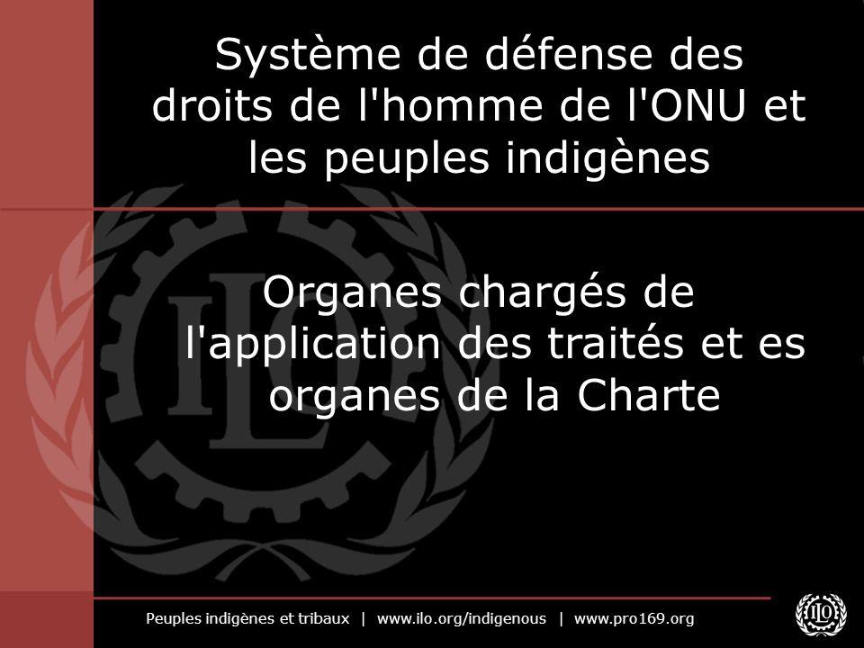Peuples indigènes et tribaux   www.ilo.org/indigenous   www.pro169.org Système de défense des droits de l'homme de l'ONU et les peuples indigènes Orga