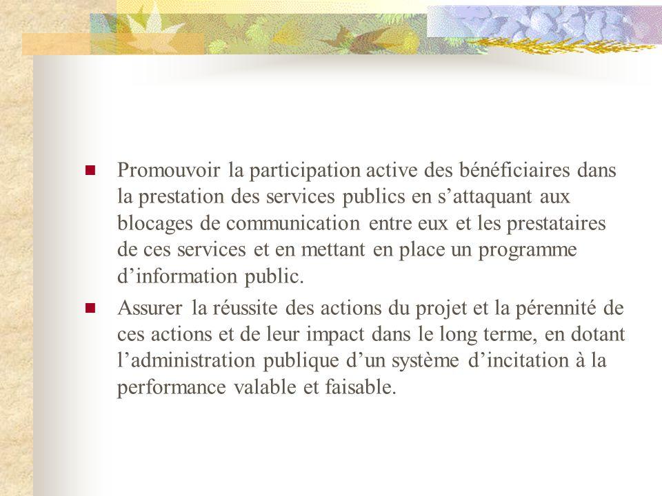 Promouvoir la participation active des bénéficiaires dans la prestation des services publics en sattaquant aux blocages de communication entre eux et