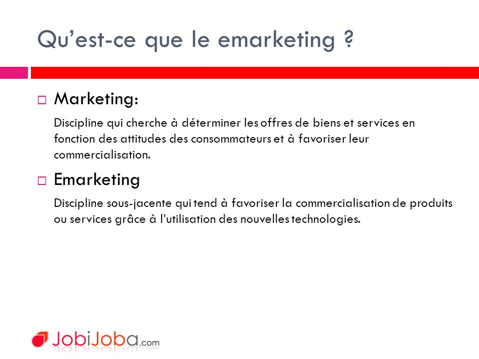 Quest-ce que le emarketing .