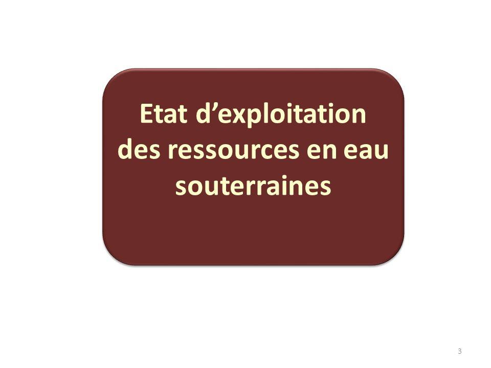 3 Etat dexploitation des ressources en eau souterraines