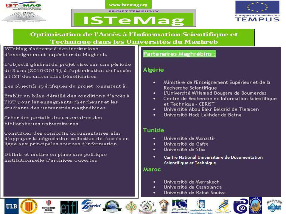 1 Type de Bibliothèque Résultats de létude de l état de l accès à l IST dans les universités partenaires en Algérie