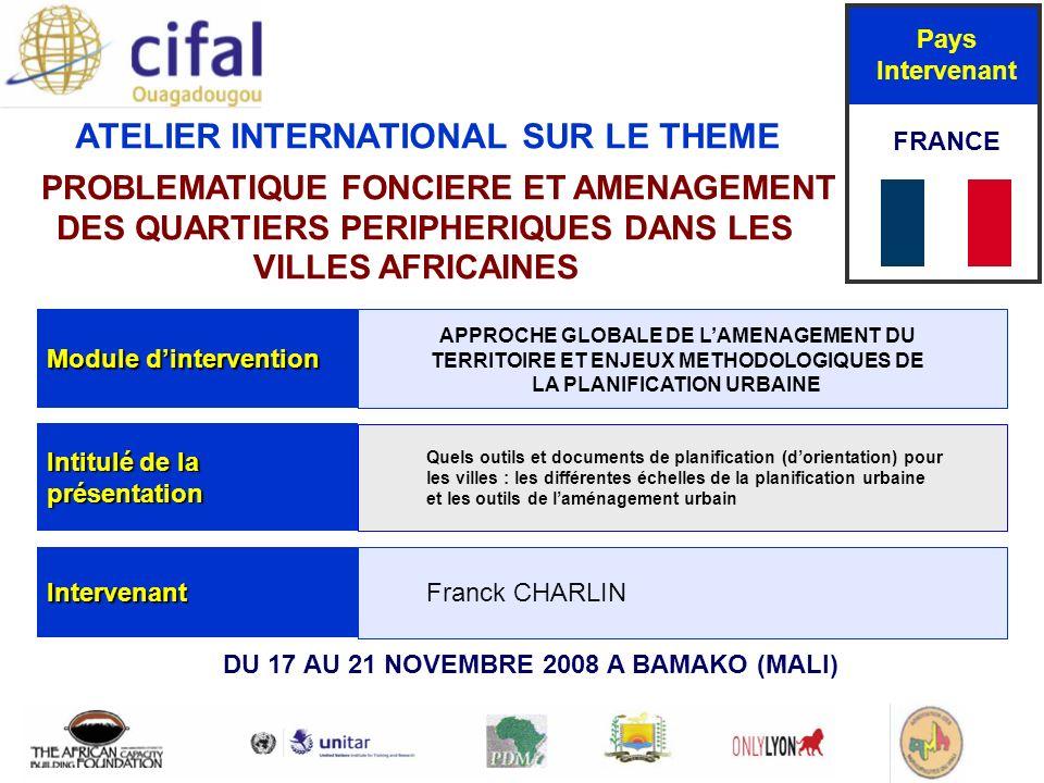 Bamako Mali 17-21 novembre 2008 Sommaire 1/ Rappel introductif : Pourquoi planifier .