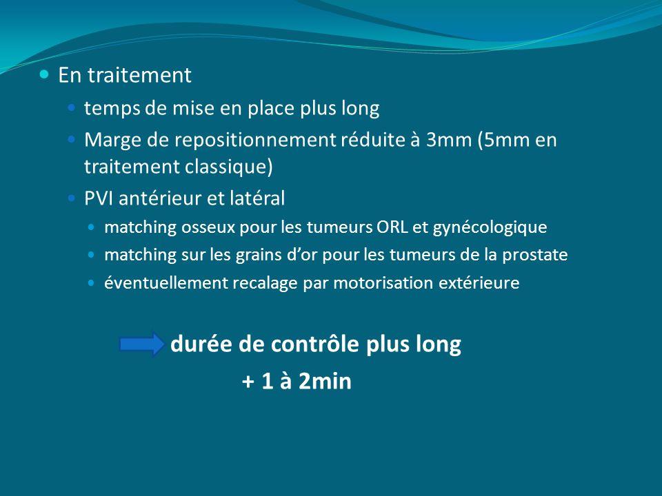 En traitement temps de mise en place plus long Marge de repositionnement réduite à 3mm (5mm en traitement classique) PVI antérieur et latéral matching