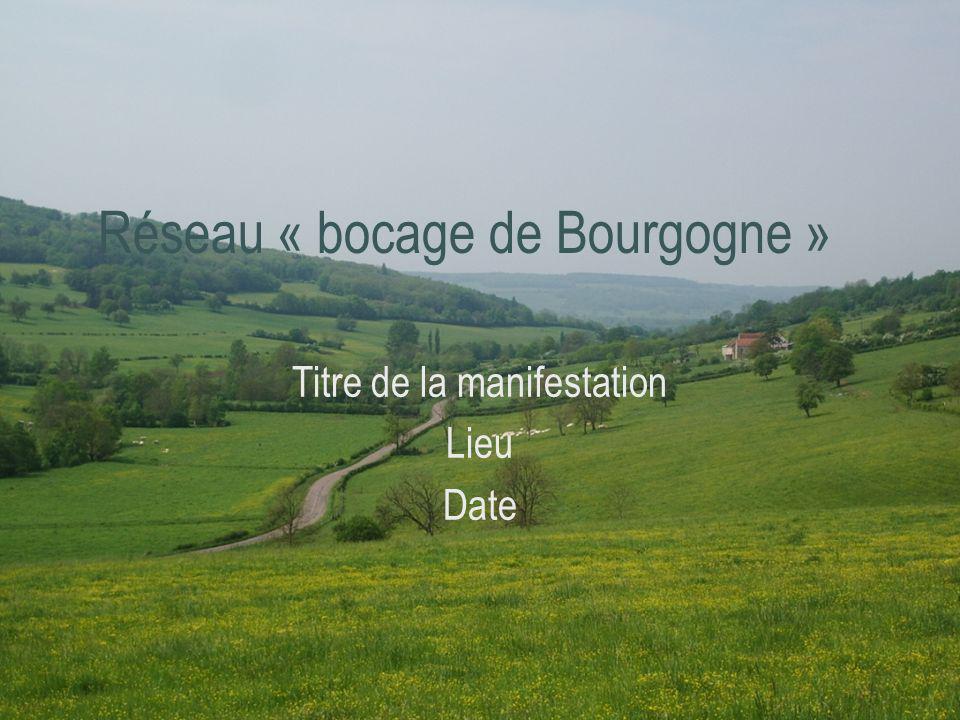 Réseau « bocage de Bourgogne » Titre de la manifestation Lieu Date