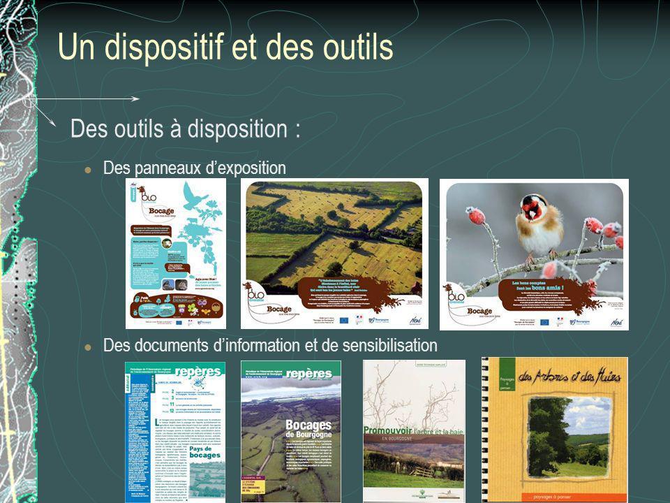 Un dispositif et des outils Des outils à disposition : Des panneaux dexposition Des documents dinformation et de sensibilisation