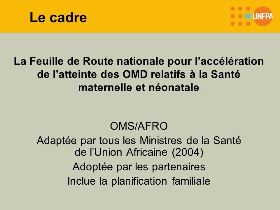La Feuille de Route nationale pour laccélération de latteinte des OMD relatifs à la Santé maternelle et néonatale OMS/AFRO Adaptée par tous les Minist