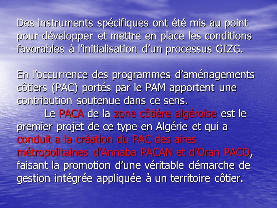 Le Plan d Aménagement Côtier du littoral Algérien Dans le cadre de lapplication des dispositions de la loi n° 02-02 du 5 février 2005 relative à la protection et à la valorisation du littoral, le Ministère de lAménagement du Territoire et de lEnvironnement et du Tourisme a lancé lélaboration des Plans dAménagement Côtier au niveau des 14 wilayas côtières.