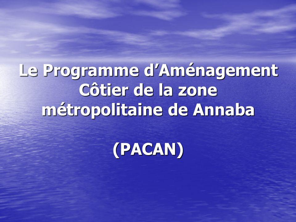 Les résultats des thématiques - Éléments de diagnostic et tendance dévolution - Lorganisation stratégique de la région métropolitaine oranaise - Le plan daménagement côtier - Linternalisation du PACO dans les programmes nationaux et locaux de développement.