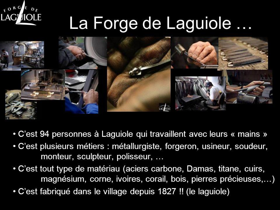 La Forge de Laguiole … Cest 4 gammes de produits (tradi, collection, sur mesure et design) Cest plus de 20 nouveaux produits par an Cest plus de 30 designers édités Cest tout fabriqué à Laguiole !!