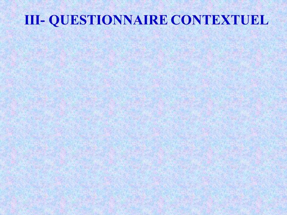 IV- COMPETENCES ACADEMIQUES DES MAÎTRES Les items sont du niveau primaire Ne dépassant pas le niveau B de la taxinomie de R.