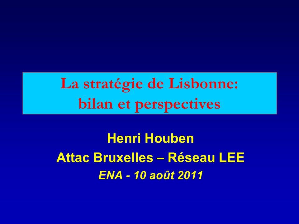 La stratégie de Lisbonne: bilan et perspectives Henri Houben Attac Bruxelles – Réseau LEE ENA - 10 août 2011