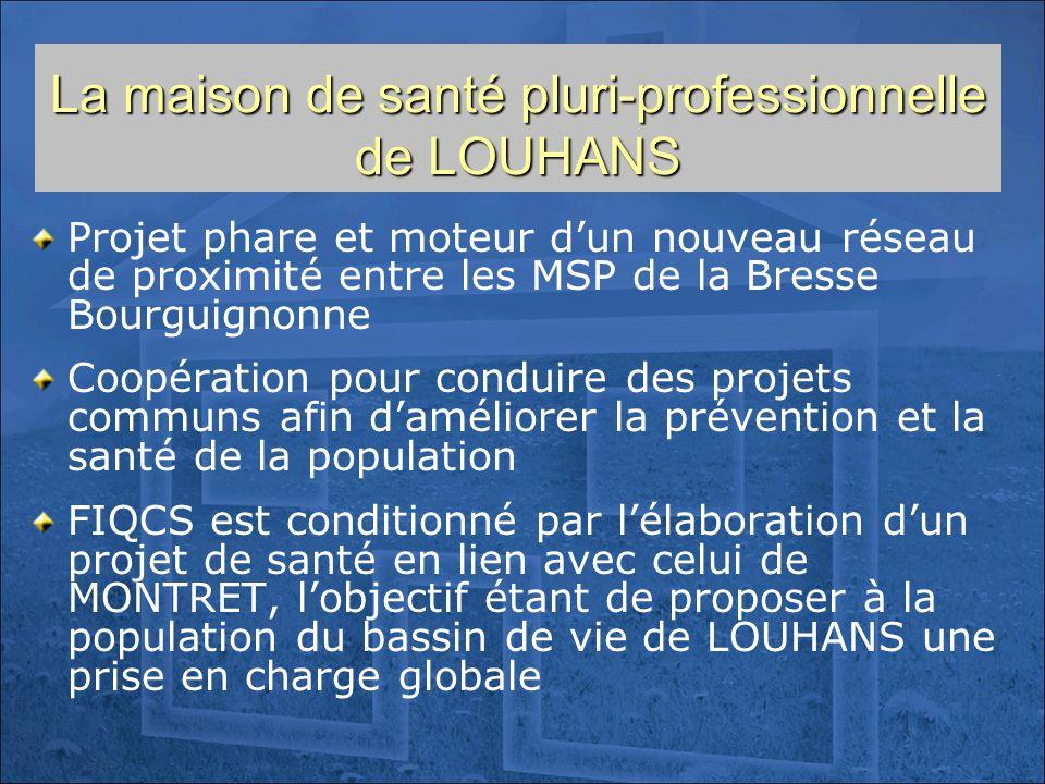 La maison de santé pluri-professionnelle de LOUHANS Projet phare et moteur dun nouveau réseau de proximité entre les MSP de la Bresse Bourguignonne Co