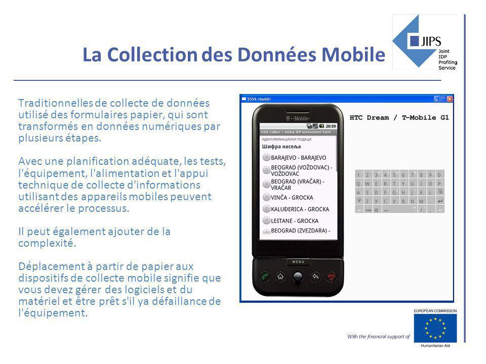 La Collection des Données Mobile Traditionnelles de collecte de données utilisé des formulaires papier, qui sont transformés en données numériques par