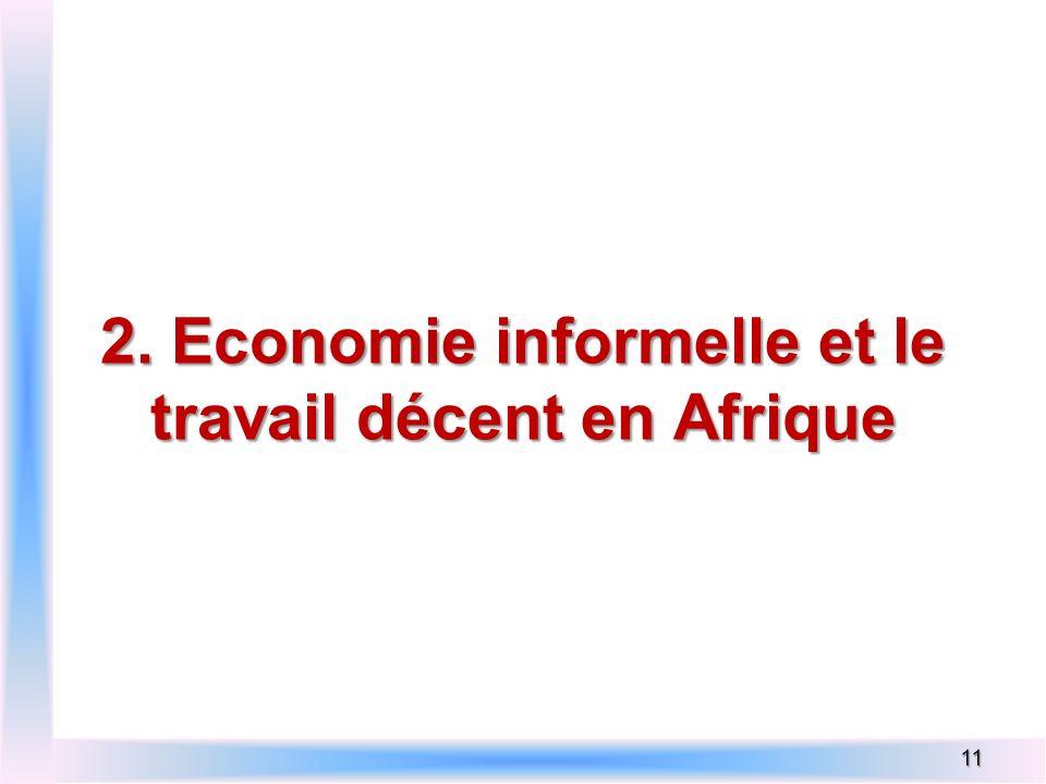 2. Economie informelle et le travail décent en Afrique 11