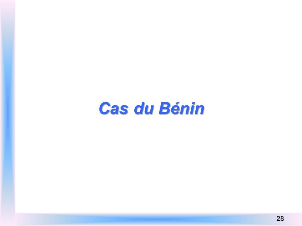 Cas du Bénin 28