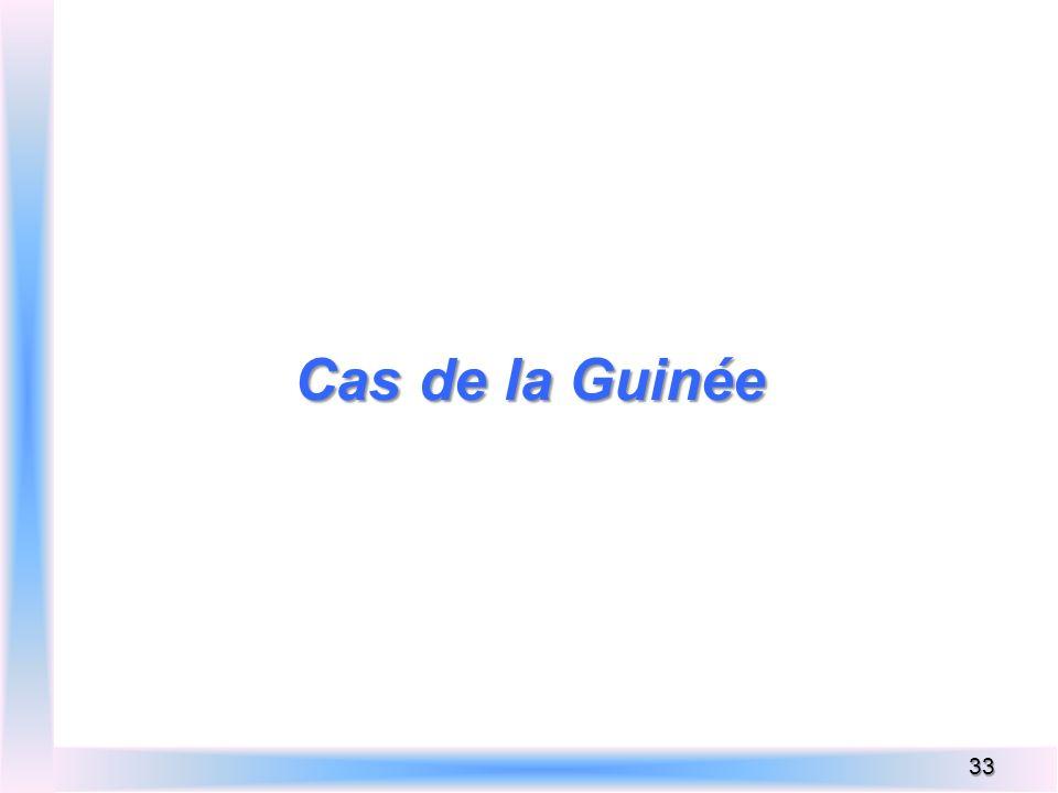Cas de la Guinée 33