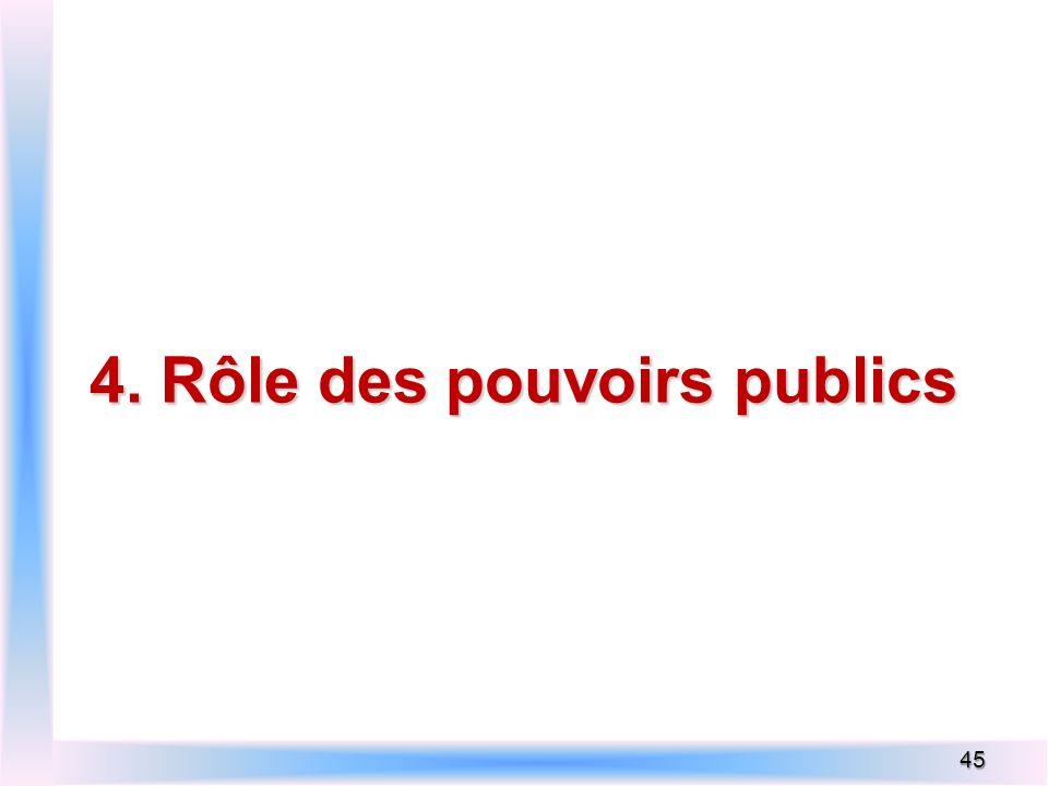 4. Rôle des pouvoirs publics 45