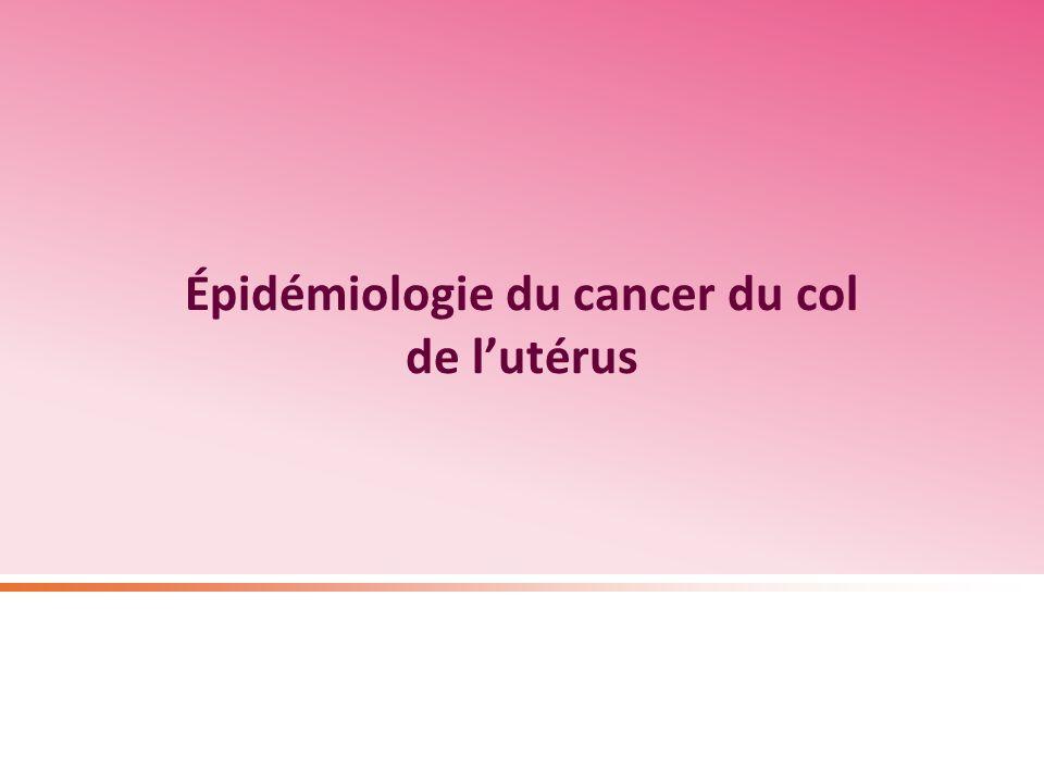 Épidémiologie du cancer du col de lutérus