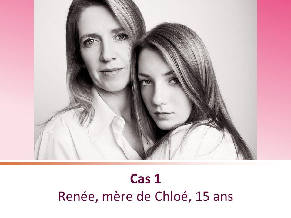 Cas 1 Renée, mère de Chloé, 15 ans