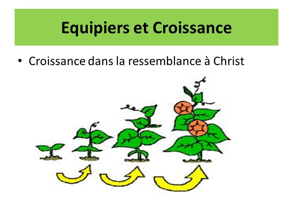 Equipiers et Croissance Croissance dans la ressemblance à Christ