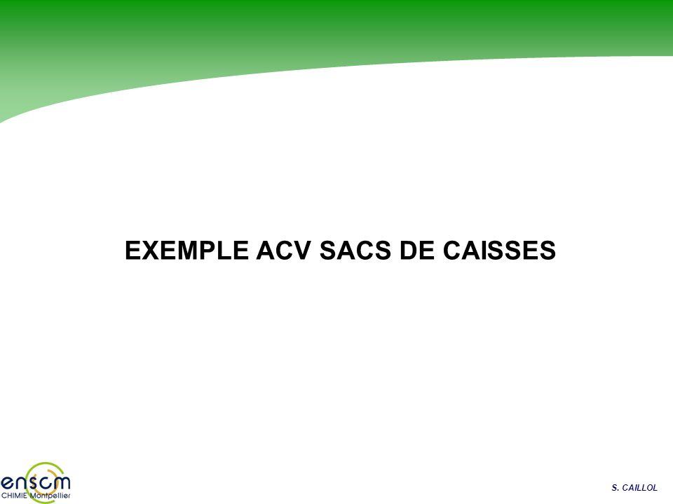 S. CAILLOL EXEMPLE ACV SACS DE CAISSES