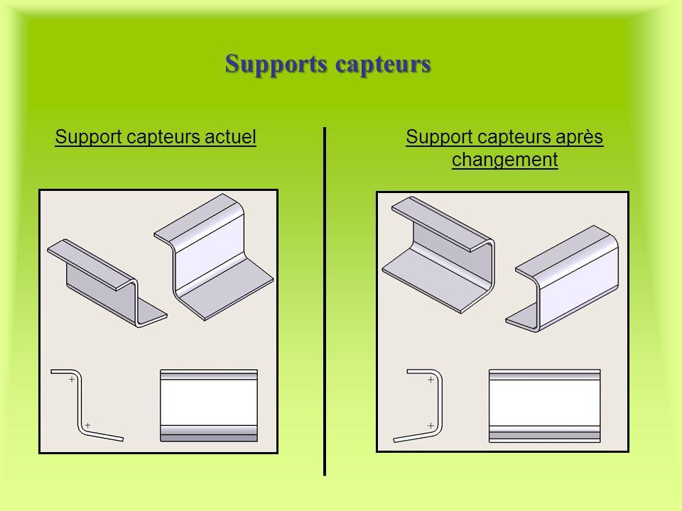 Supports capteurs Support capteurs actuelSupport capteurs après changement