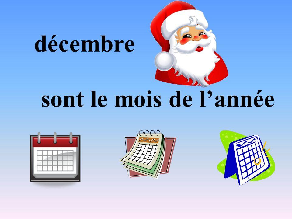 décembre sont le mois de lannée