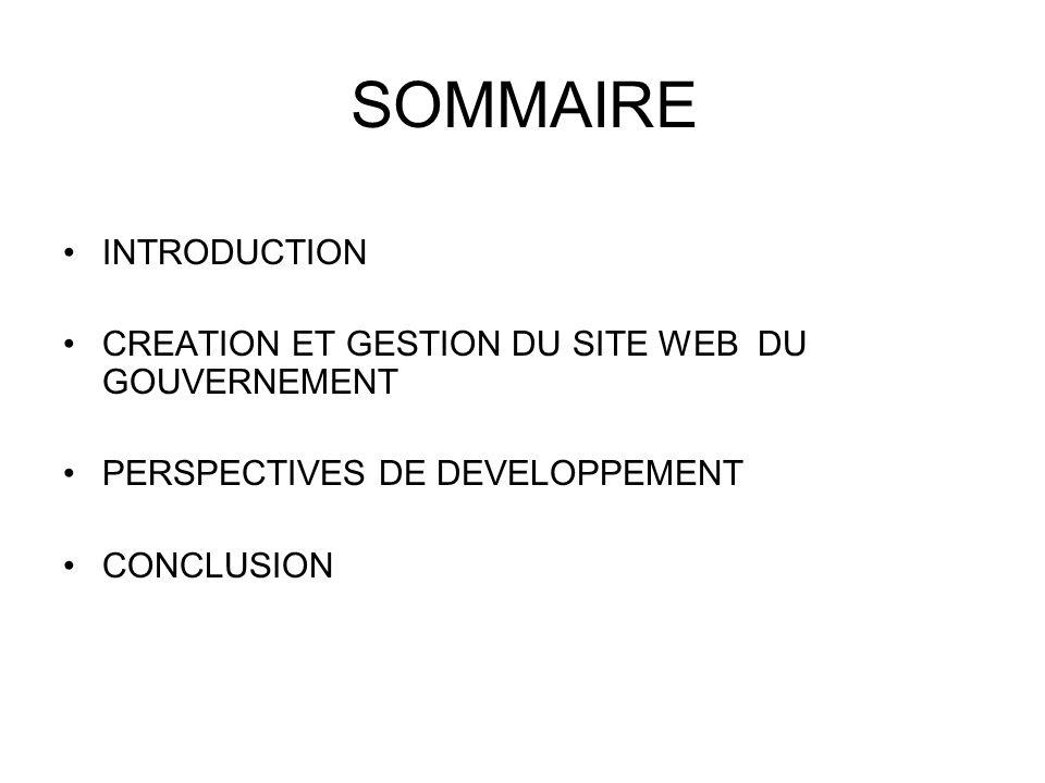 INTRODUCTION Les Services du Premier Ministre (SPM) ont été crées en Août 1991.