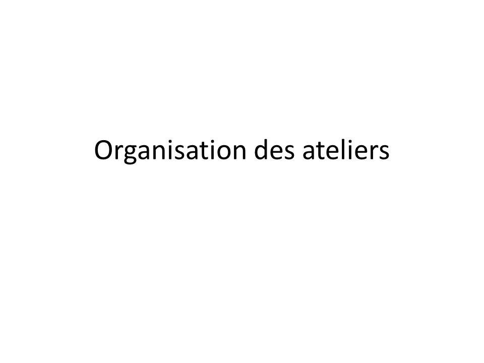 Organisation des ateliers