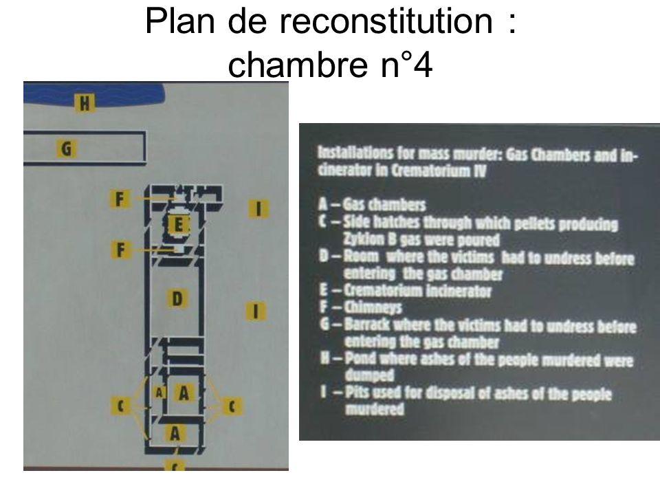 Plan de reconstitution : chambre n°4
