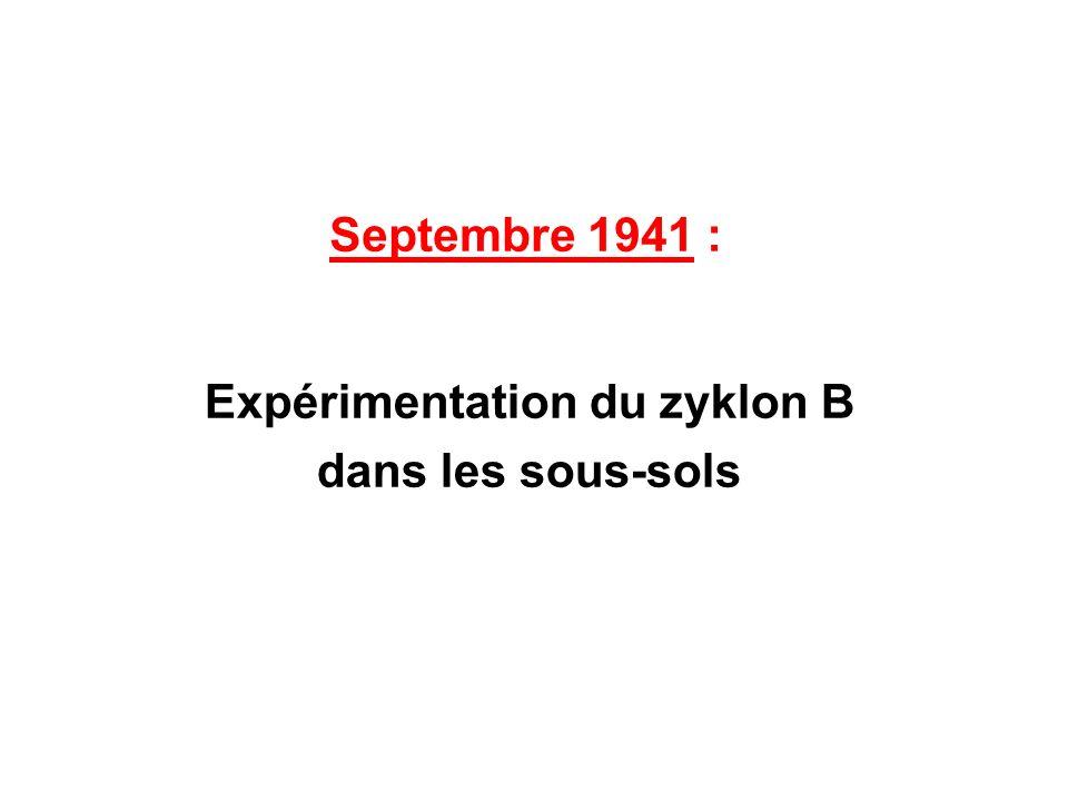 Septembre 1941 : Expérimentation du zyklon B dans les sous-sols