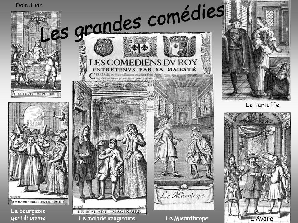 Le bourgeois gentilhomme Dom Juan Le Misanthrope Le Tartuffe Le malade imaginaire LAvare